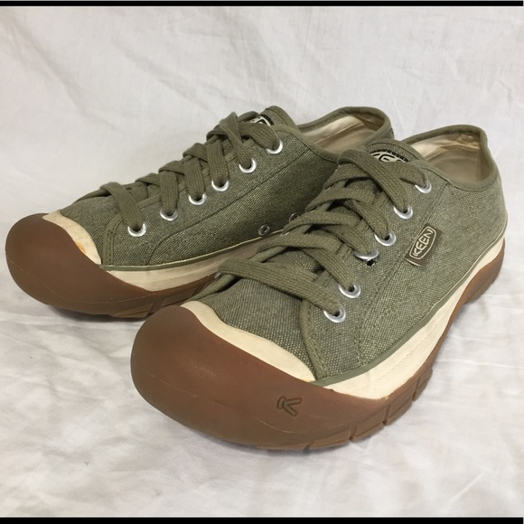 Keen Mens Green Canvas Sneakers Shoes